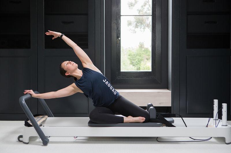 flexibility exercises on pilates reformer
