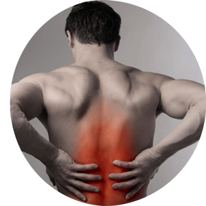 Man experiencing lower back pain